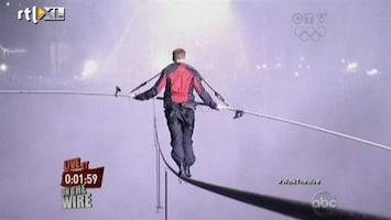 RTL Nieuws Koorddanser steekt Niagarawatervallen over