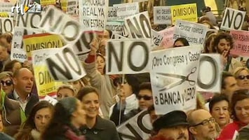 RTL Nieuws Massale protesten in Spanje en Italië