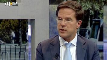 RTL Nieuws Rutte: iedereen voelt crisis in 2012
