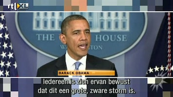 RTL Boulevard Presidentskandidaten en storm Sandy