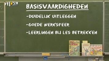 RTL Nieuws Kwart VO-leraren kan niet lesgeven