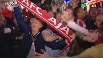 RTL Nieuws Leidseplein viert feest na kampioenschap