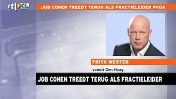 RTL Nieuws Eerste reactie Frits op aftreden Cohen