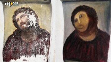 RTL Nieuws Expositie van kunstenares die fresco Jezus verpestte