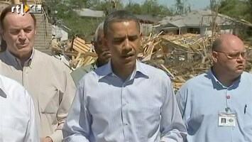 RTL Nieuws Obama in rampgebied tornado