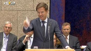 RTL Nieuws Rutte en Wilders bekvechten in Kamer