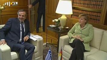 RTL Nieuws Beladen bezoek Merkel aan Griekenland