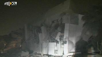 RTL Nieuws NAVO bombardeert complex Khadaffi