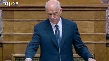 RTL Nieuws Papandreou wil Grieken laten beslissen