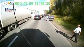RTL Nieuws Truckers leren maffia een lesje