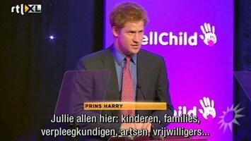 RTL Boulevard Prins Harry bij WellChilds awards