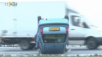 RTL Nieuws Veel ongelukken door gladheid