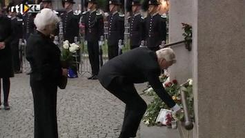 RTL Nieuws Kranslegging Oslo voor slachtoffers Breivik
