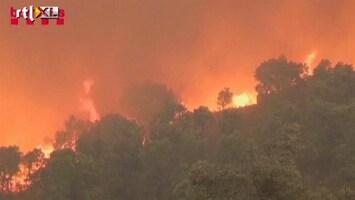 RTL Nieuws Ooggetuige bosbrand: 'Geen idee of de camping er nog is'