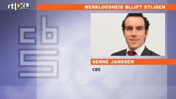 RTL Nieuws CBS: Zorgelijk - 1 op de 15 is werkloos