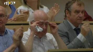 RTL Nieuws Tranen van geluk bij Higgs