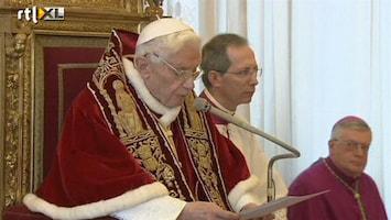 RTL Nieuws Paus treedt af maar blijft in Vaticaanstad