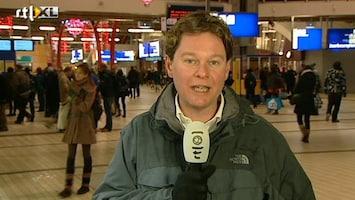 RTL Nieuws Rustig op Utrecht CS, alleen rij voor gratis koffie