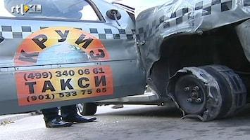 RTL Nieuws Chaos in Moskou door dronken taxichauffeur