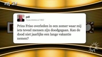 RTL Boulevard BN'ers over overlijden Friso
