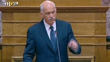 RTL Nieuws Onrust door plan Papandreou