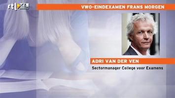 RTL Nieuws Examen Frans voor vwo een dag uitgesteld