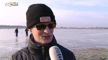 RTL Nieuws Eersten gaan het ijs al op, marathon in Noordlaren