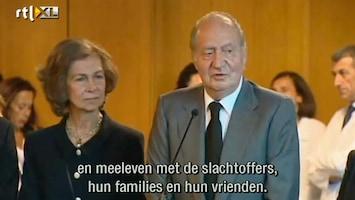RTL Nieuws Spaanse koning bezoekt rampplek