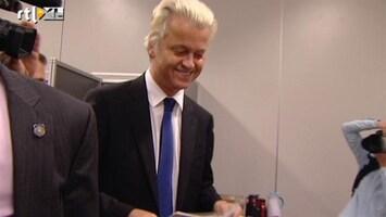 RTL Nieuws Geert Wilders brengt zijn stem uit