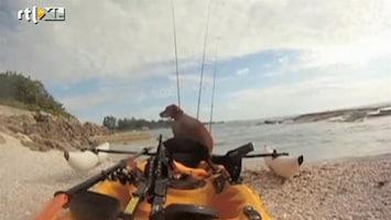RTL Nieuws Kajakker redt hond uit zee