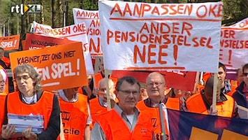 RTL Nieuws Leden FNV tegen pensioenakkoord