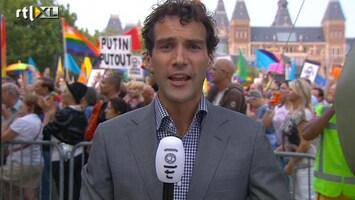 RTL Nieuws Drukte bij protest voor homo's in Rusland