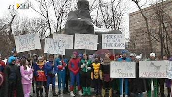 RTL Nieuws Superhelden protesteren tegen te dikke Russen