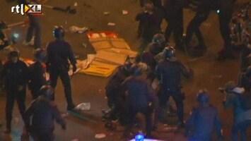 RTL Nieuws Massaal oproer in Madrid