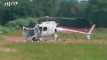 RTL Nieuws Helikopter valt uit elkaar tijdens landing