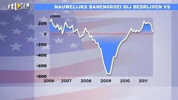 RTL Z Nieuws 15:00 uur: Banengroei VS stokt, speculaties over QE3
