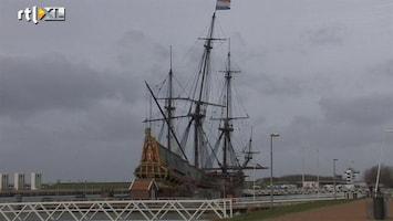 RTL Nieuws Mast Batavia staat scheef door wind