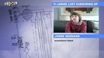 RTL Nieuws Nederlands jochie lost Eurocrisis op