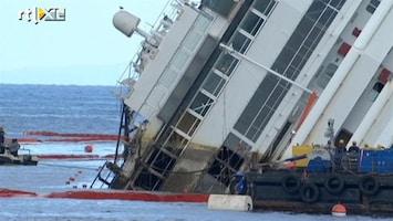 RTL Nieuws Costa Concordia centimeter voor centimeter omhoog