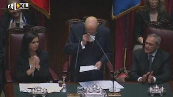 RTL Nieuws Napolitano haalt fel uit naar politiek Italië