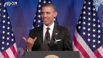 Editie NL Obama zingt 'sexy back'
