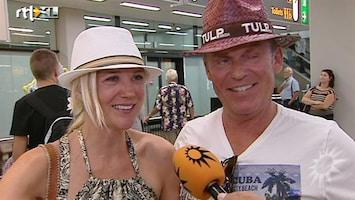 RTL Boulevard Sonja Bakker en Jan Reus terug van Ibiza