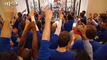 RTL Nieuws Gekte bij opening Apple Store Amsterdam