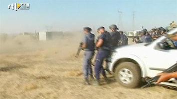 RTL Nieuws Politie Zuid-Afrika schiet op mijnwerkers