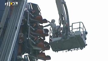 RTL Nieuws Toeristen vast in achtbaan China