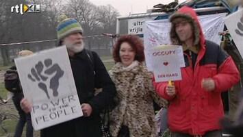 RTL Nieuws Occupy'ers Den Haag willen niet vertrekken