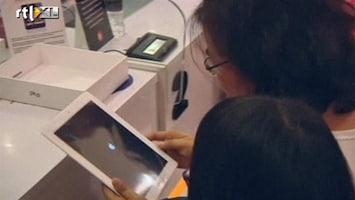 RTL Nieuws Lange rijen voor nieuwe iPad