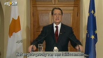RTL Nieuws 'Reddingsplan Cyprus mogelijk aangepast'