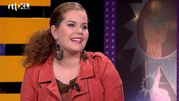 RTL Boulevard TVOH-finaliste Iris Kroes aan de desk