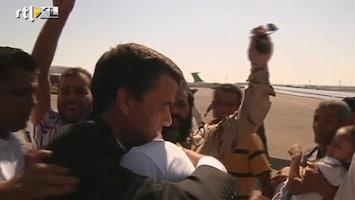 RTL Nieuws Heldenontvangst Libische deserteurs